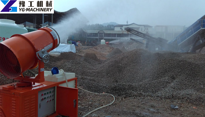 dust suppression fog cannon machine