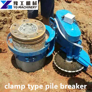 clamp type pile breaking machine