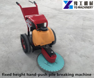 fixed height hand-push pile breaking machine