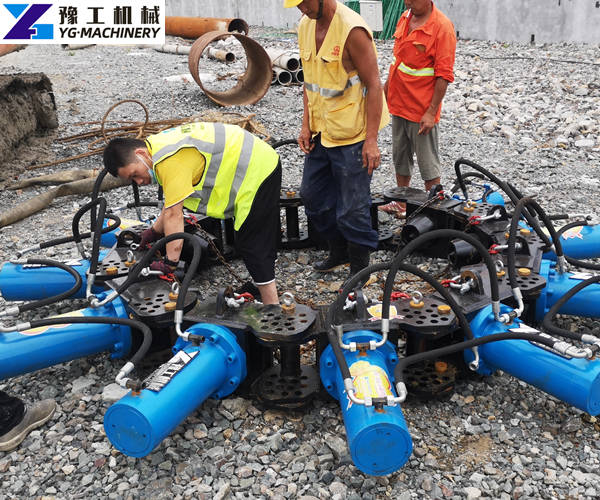 Engineer Zhao is Installing a Pile Breaker Machine