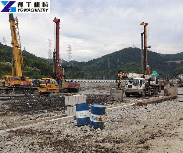 Hydraulic Pile Breaking Machine Construction Site