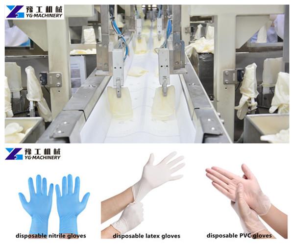 YG disposable glove making machine types
