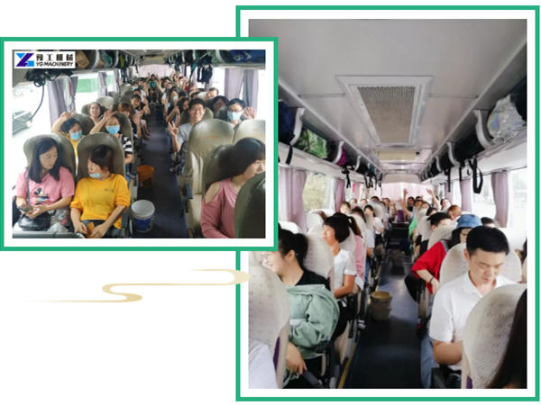 YG people set out by buses