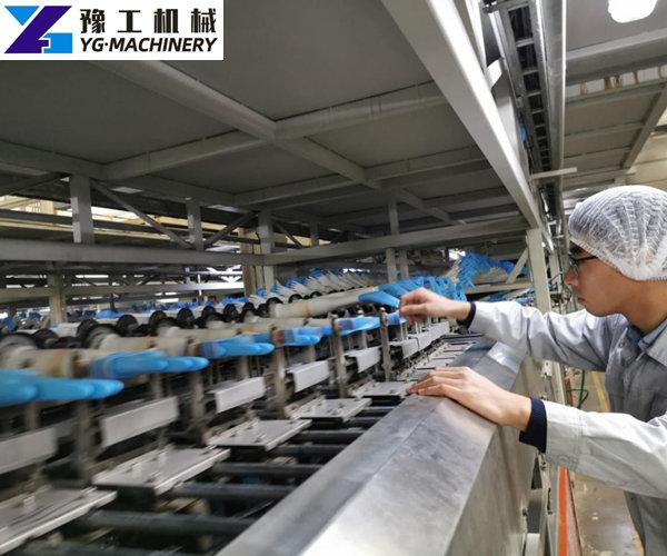 blue nitrile gloves making machine price