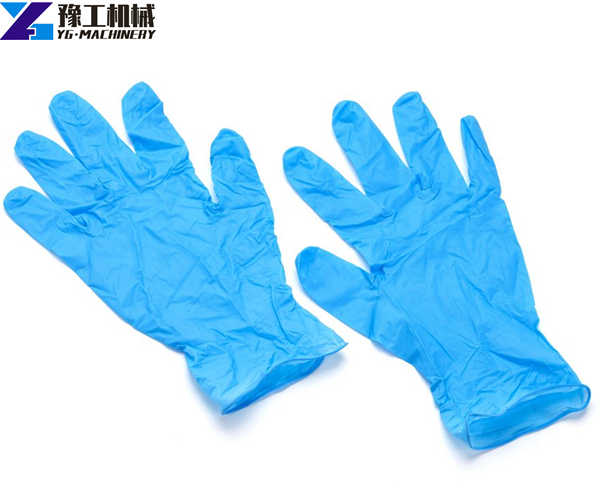 blue surgical medical gloves sample