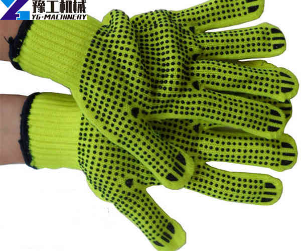 labor work safety gloves with black dots