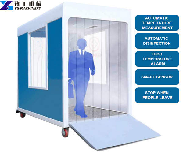 mobile human disinfection gate