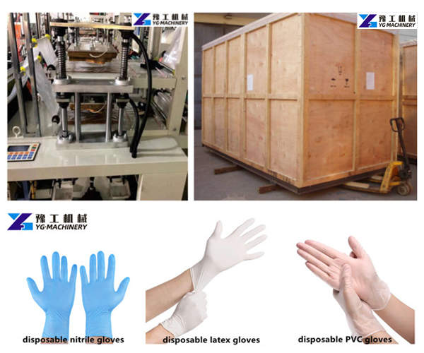 plastic gloves making machine package