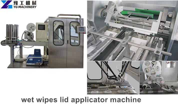 wet wipes lid applicator machine