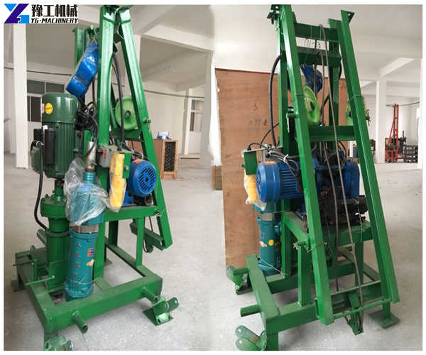 Two-phase electric folding type small water well drilling rig