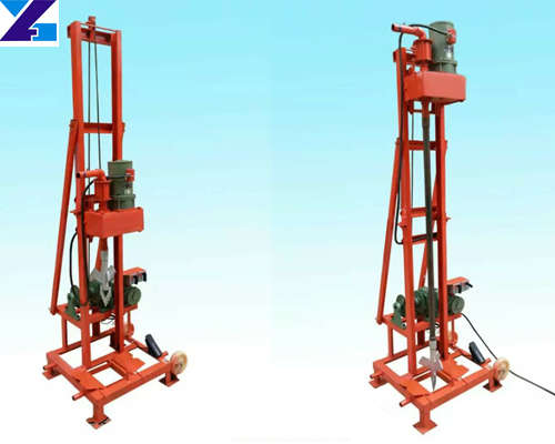 Two-phase electric folding type water well drilling rig