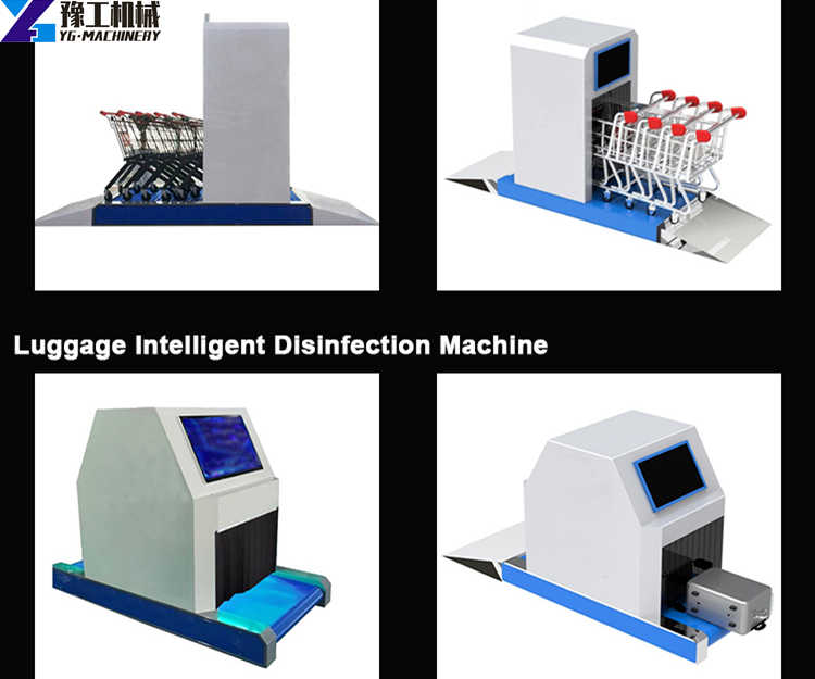 full automatic airport trolley sterilization machine