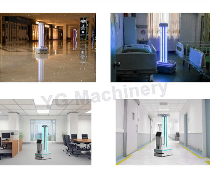 Smart UV Robot Hospital Use