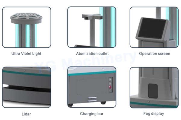 UV light disinfection robot company