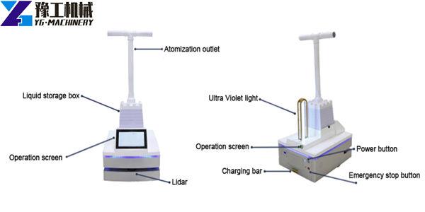 UV light robot sterilizer for sale