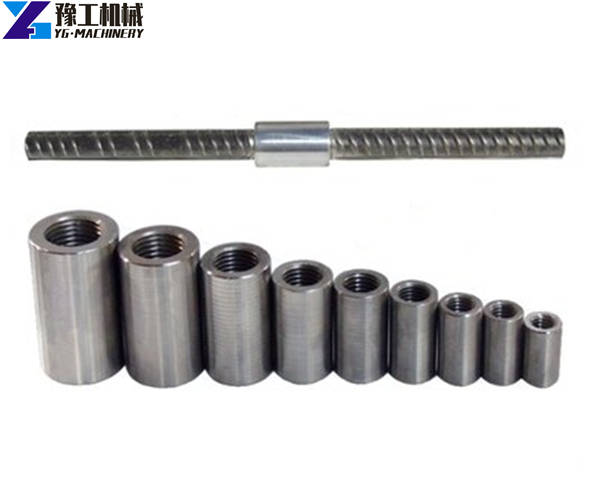 different size of threaded rebar couplers