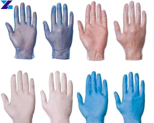 Synthetic stretch vinyl medical gloves