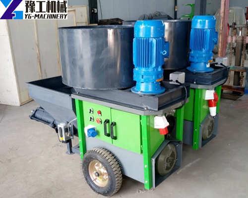 Mixing and spraying machine