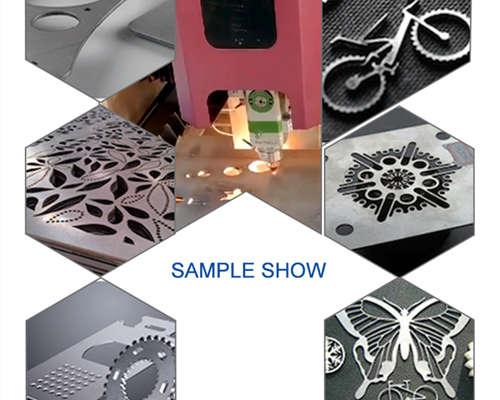 YG cnc laser cutter cut sample show
