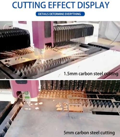 fiber laser cutting machine cutting effect