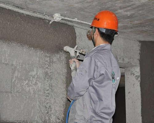 stucco sprayer machine construction Site