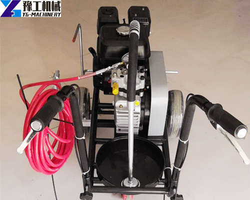 Small Simple Cold Paint Road Line Machine